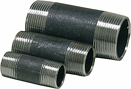 Rohrdoppelnippel, schwarz 1'' x 80mm (a/a) DIN 2982
