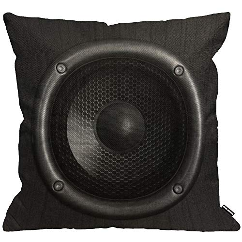 HGOD DESIGNS Speaker Cushion Cover,Music Sound Fashion Cool Young Black...