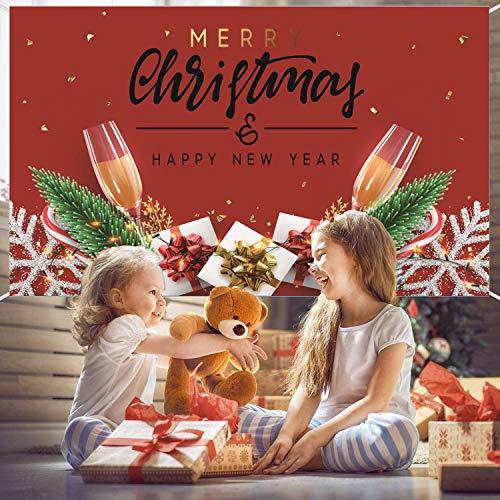 1,8 x 1,1 m, sfondo natalizio, decorazione natalizia