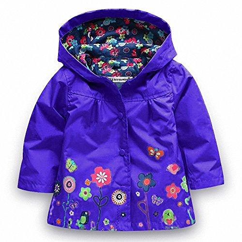 AILEESE AILEESE Kinder Mädchen Baby wasserdichte Kapuzenmantel Kostüm Outwear Regenmäntel Herbst wasserdichte Windjacke Jacken
