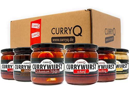 Currywurst im Glas Probierbox in verschiedenen Varianten von CurryQ (6x350g)
