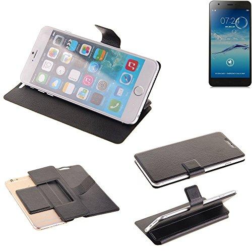 K-S-Trade® Schutz Hülle Für Jiayu S3+ Schutzhülle Flip Cover Handy Wallet Case Slim Handyhülle Bookstyle Schwarz