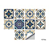 Alwayspon Self-Adhesive Wall Tile Decals, Peel and Stick Tile Stickers, Waterproof Backsplash Stickers for Kitchen Bathroom Decor, 6x6inch 10 Pcs
