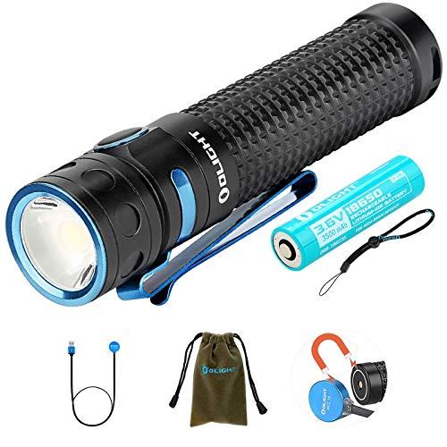 Olight Baton Pro Linterna Poderoso 2000 lúmenes / 132 metros CW LED...