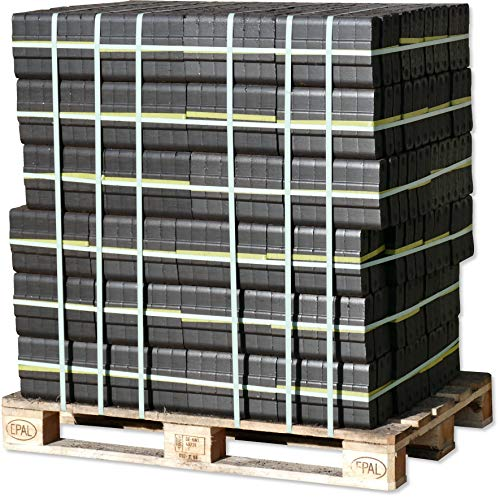 960 kg Kohle Briketts im 10 kg Bündel TOP Gluthalter Kamin Ofen Brikett Heizbriketts 960kg Palette Union Briketts