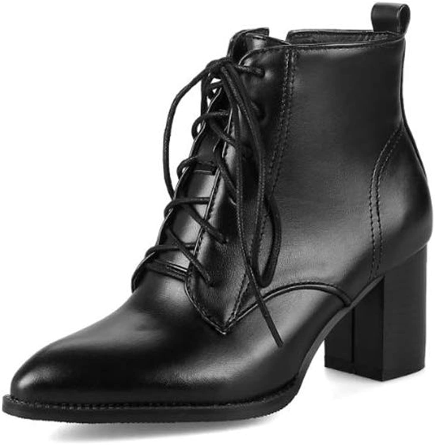Super explosion Fashion Women's Comfort Lace-up Zipper Platform Chunky High Heel Ankle Boots