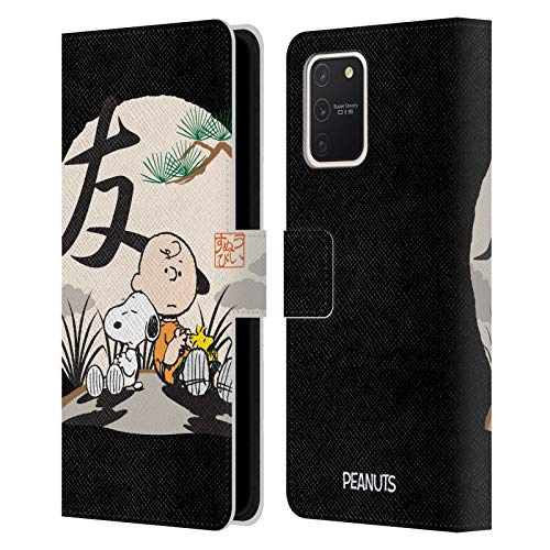 Head Case Designs Officially Licensed Peanuts Charlie Brown Oriental Snoopy Leather Book Wallet Case Cover Compatible with Samsung Galaxy S10 Lite