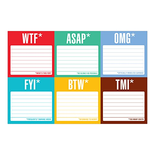 Knock Knock Sticky Notes Packet, Honest Acronyms Photo #4