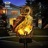 LED Solar-Gartenleuchte Flamingo Eule Rasen-Lampe, wasserdichte Solar-LED-Außenbeleuchtung, Nachtlicht, Deko, Haus, Garten braun
