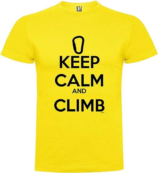 Camiseta Escalada Keep Calm and Climb Manga Corta Hombre