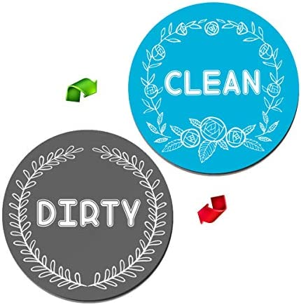 LARGE SIZE Dishwasher Magnet Clean Dirty Sign Indicator Strong Magnetic Double Sided Flip Magnet product image