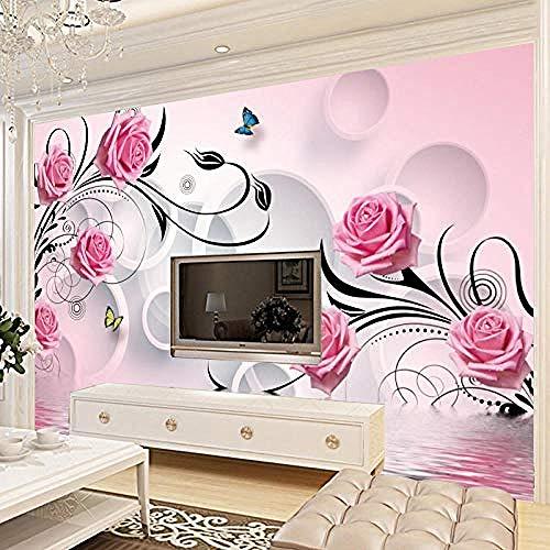 Papel tapiz de fondo de TV de sala de estar Mural grande 3D Papel tapiz de fresco no tejido sin cost Pared Pintado Papel tapiz 3D Decoración dormitorio Fotomural sala sofá pared mural-150cm×105cm