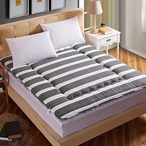 FYRS Dikke Tatami-matras, opvouwbare slaapzaal voor studenten, tweepersoons/enkele spons, zacht matras, 1,8 x 2,0 m bed, eenvoudig en handig