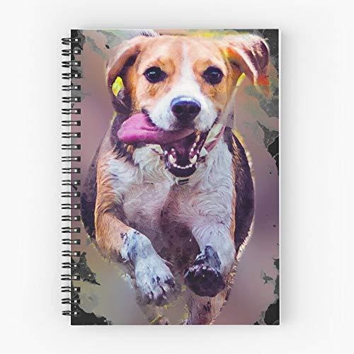 Animal Heart Pets Friends Girlfriend Domestic Friend Friendship Fun Nettes Schul-Fünf-Sterne-Spiral-Notizbuch mit haltbarem Druck
