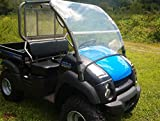 Dot Weld Offroad 04-16 Kawasaki 600,610,XC Mule Clear Folding Fold Up Front Windshield.A Full 1/4' Thick!