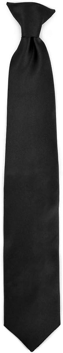 Men's Poly Solid Clip On Tie
