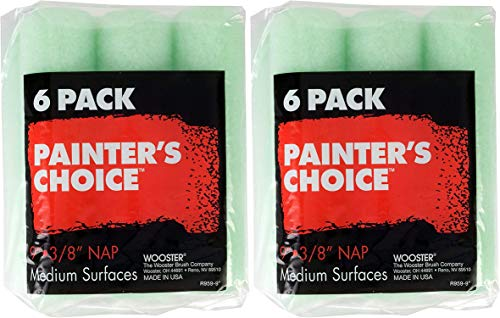 Wooster Brush R959 R959-9 Painter's Choice Roller Cover 3/8 Inch Nap, 6-Pack, 9 Inch Pack of 2