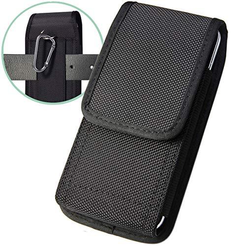ykooe Handy Gürteltasche Handytasche mit Gütelclip Hohe Dichte Oxford Harte Carvas Outfit mit Schreibhalterung Hüftentasche für iPhone & Samsung Smartphone