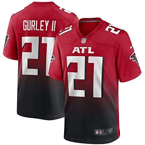Herren T-Shirt American Football Uniform Atlanta Falcons Gurley II #21 Football Trikots Gruby Tee Shirts Gr. M, Bild