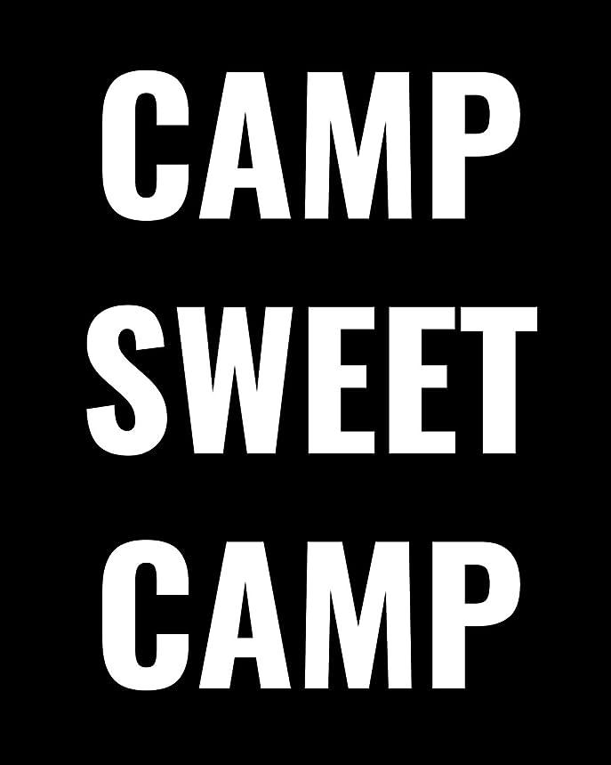 悲しいことに反応する論理的にCamp Sweet Camp: RV Travel Journal, Custom Camping Diary, Glamping Travel Log Book, Adventure Tracker Memory Keepsake