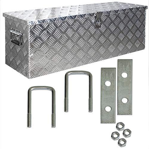 Truckbox Box Werkzeugkiste Anhängerbox Alubox Deichselbox Aluminium inkl. Montagesatz D100 Trucky