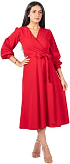 فستان لل نساء مقاس M , احمر