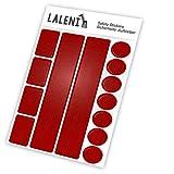 Laleni 13 Stickers Autocollants Reflecteurs - Sécurité Enfant Nuit, Rouge