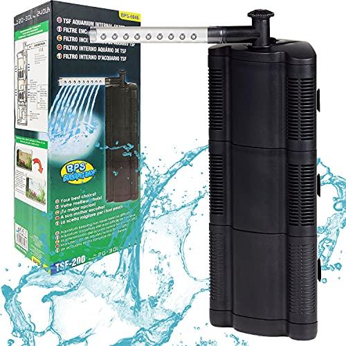 BPS (R) Filtro Profesional Acuario,Filtro Interno para Pecera,Ahorro de Energía.(4.8W ,240L H)BPS-6046