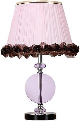 ZLMAY Juego de lámparas de Mesa Modernas de Crystal Ball Silver White Drum Shade for Sala de Estar Dormitorio Familiar Junto a la Cama: Amazon.es: Hogar