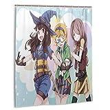 Meili Anime Little Witch Academia Duschvorhang Lustige wasserdichte Duschvorhänge Badvorhang mit 12 Haken für Home Badezimmer Dekoration 60x72in
