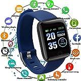YOUQING, smartwatch Impermeabile in Silicone con risoluzione HD, Pressione sanguigna, frequenza...