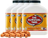 Survival Tabs - 60-Day Food Supply-Emergency Survival Food MRE for Camping Biking, Disaster Preparedness Gluten-Free Non-GMO 25 Years Shelf Life (4 Bottle x 180 tabs/Butterscotch)
