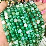 Tira de piedras preciosas naturales, perlas de ágata de 8 mm, 6 mm, 4 mm; pulidas y mate, en forma de bola, para joyas, pulseras, cadenas, fabricación de joyas, color a elegir