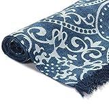 GJEFEGS vidaXL Kelim-Teppich Baumwolle 160x230 cm mit Muster Blau - 3