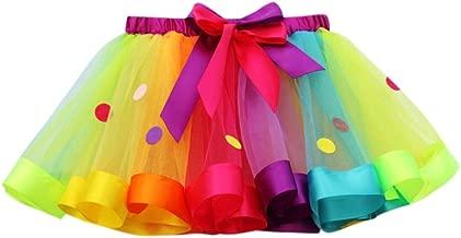 OHQ Niñas Niños Tutu Tulle Party Dance Ballet Niño pequeño Rainbow Baby Costume Skirt