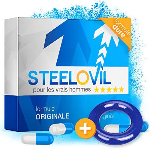 *NOUVEAU* STEELOVIL + ANNEAU - L'agent de puissance naturel avec la formule unique Stiff-Power I PAQUET DE LIVRAISON NEUTRE I 4 ingrédients hautement dosés (BAGUE BLEUE)