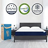 Sleep Innovations Marley 10-inch Cooling Gel Memory Foam Mattress Bed in a Box, Made in the USA, King, White