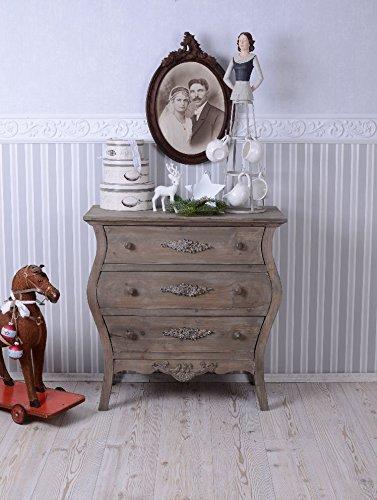 Schubladenschrank Antikstil Kommode Holzkommode Vintage Schrank 3 Schubladen neu AWC001 Palazzo Exclusiv