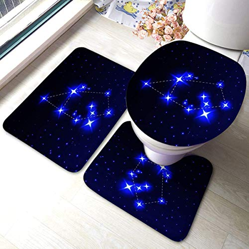 3-teilige Anti-Rutsch-Pads für das Bad Die Sternbild Auriga im nächtlichen Sternenhimmel der Konzeptastronomie Anti-Rutsch-Pads für das Bad Matte