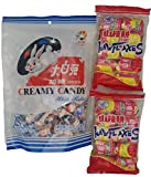 Chinese Candy Bundle Haw Flakes Hawthorne Berry Candy and White Rabbit Creamy Candy