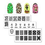 Winstonia 3pcs Fall Nail Stamping Plates Image Set Bundle, Fall Collection - Golden Season, Woodland Magic, Plaid About You