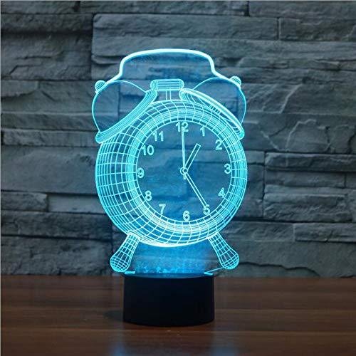 Nachtlampje LED nachtlampje met wisselend nachtlampje 7 kleuren patroon wekker baby kinderen kinderkamer hal kinderkamer kinderkamer kerstcadeau