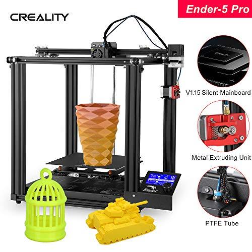 Fesjoy haute précision -5 Pro Imprimante 3D Kit de bricolage avec mise à niveau silencieuse de la carte mère Tubes en PTFE Extrudeuse en métal 220 * 220 * 300mm Volume de fabrication