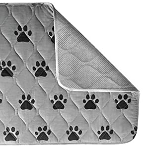 Gorilla Grip Original Reusable Pad and Bed Mat for Dogs, 34×21, Absorbs 3 Cups, Oeko Tex Certified, Washable, Waterproof, Puppy Crate Training, Furniture Protection Pet Pads, Fits 36 Inch Dog Crates