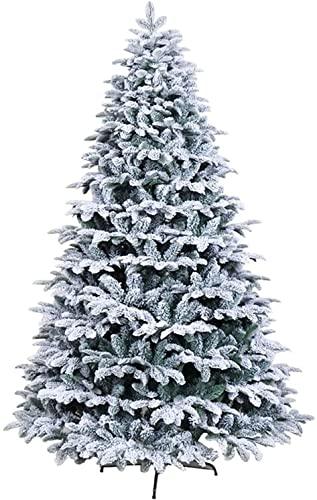 YHQKJ Decorazione dell'albero di Natale Artificiale,Albero di Natale innevato innevato innevato in Metallo Cedar,Facile da Montare for la Festa di Natale (Size : 240cm(8ft))