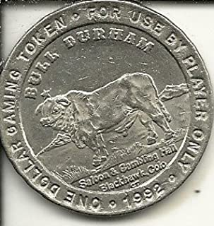 $1 bull durham casino token coin blackhawk colorado obsolete