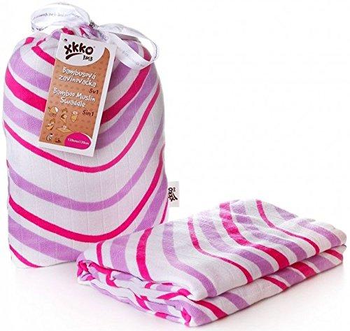 Easy enfants idées bmb12 0019 a Bambou Serviette à langer pour pucken, wickeln ou comme Tapis, Puck Chiffon Violet 120 x 120 cm