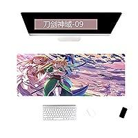 特大デスクパッドコンピューターパッドキーボードパッドデスクパッドギフトマウスパッド可能-400x900x2mm_ソードアートオンライン-09