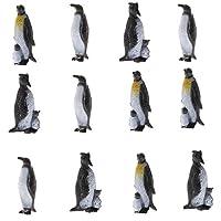 #N/A 12個/個のプラスチックペンギン海洋動物モデルフィギュア教育