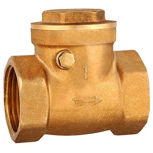 Rückschlagventil, 1-teilig, DN25-Innengewinde, Messing, Rückschlagklappe, Rückschlagventil 232PSI, verhindert den Rückstau von Wasser